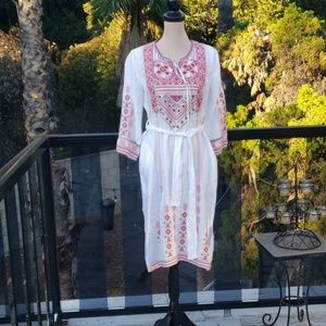 Nwt Johnny Was Linen dress S